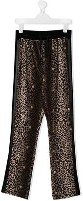 John Richmond Junior TEEN leopard print track trousers