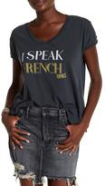 """Sugar \""""I Speak French Fries\"""" V-Neck Tee"""