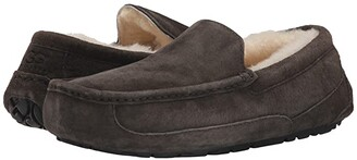 UGG Ascot (Black Suede) Men's Slippers