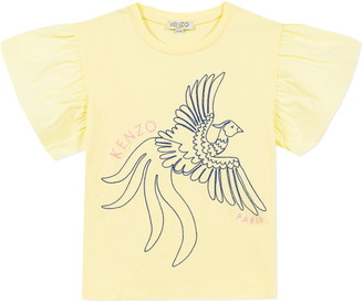 Kenzo Embroidered Flutter Sleeve Graphic Tee