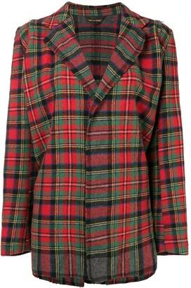 Comme des Garcons Pre-Owned tartan check loose jacket