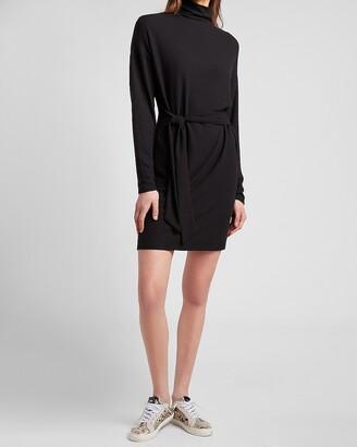 Express Cozy Mock Neck Sweater Dress