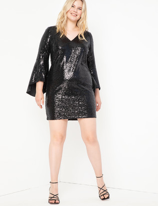 ELOQUII Bodycon Sequin Dress