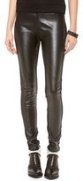 Faux Leather Paneled Leggings