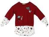 Lots of Love by Speechless Girls' Lots of Love by Speechless Patch Top And Blouse - Dark Red