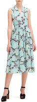 Kate Spade dahlia bloom burnout midi dress
