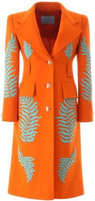 Prada Embellished Tailored Coat