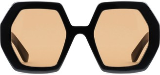 Gucci Oversized Octagonal Frame Sunglasses