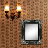 11.5 in. x 13.5 in. Antique Style Framed Mirror