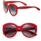 Dolce & Gabbana Spotted Round Sunglasses
