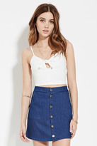 Forever 21 FOREVER 21+ Keyhole Cropped Cami