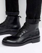 Calvin Klein Read Leather Lace Up Boots