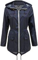 Envy Boutique Ladies Womens Plain Parka Mac Hooded Waterproof Raincoats Fishtail Jacket 20