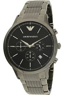 Emporio Armani Men's Grey Stainless-Steel Quartz Fashion Watch
