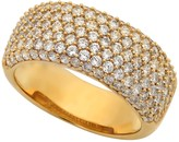 Crislu 18K Gold Plated Sterling Silver 7 Row CZ Pave Band Ring