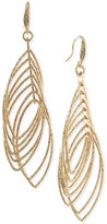 ABS by Allen Schwartz Gold-Tone Multi-Row Gypsy Hoop Earrings