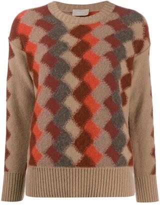 Drumohr Diamond Knit Crew Neck Sweater