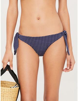 Eberjey Coastal Dot Kiki mid-rise bikini bottoms