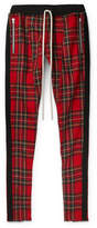 Fear Of God Slim-fit Tapered Checked Wool Drawstring Trousers - Red