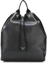 Emporio Armani bucket backpack - men - Leather - One Size