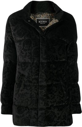 Etro All-Over Motif Padded Jacket