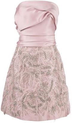 Marchesa strapless draped dress