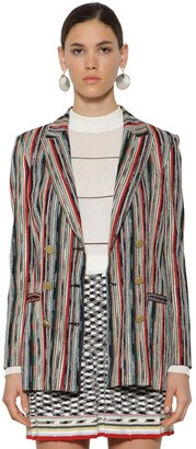 Missoni Striped Double Breast Wool Knit Blazer