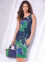 Kaleidoscope Scuba Navy Print Dress