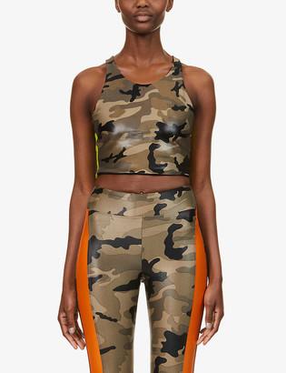 Koral Bruna camouflage-print stretch-jersey sports bra