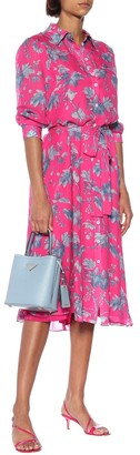 Carolina Herrera Printed silk-chiffon shirt dress