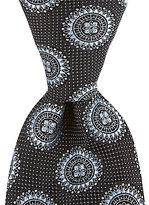 Daniel Cremieux Medallion-Print Traditional Silk Tie