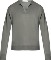 Boglioli V-neck cotton and silk-blend sweater