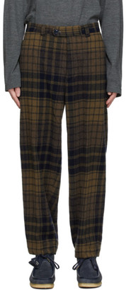 ts(s) tss Navy and Brown Pegtop Trousers