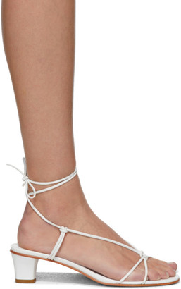 Martiniano White Spaghetti Heeled Sandals