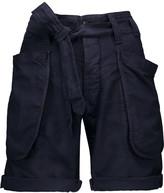 Nlst Tie-waist cotton-blend shorts