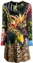 Roberto Cavalli paradise found mini dress