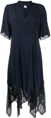 See by Chloe Asymmetric Lace Trim Dress