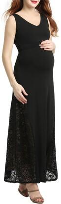 Kimi and Kai Elizabeth Lace Maternity Maxi Dress
