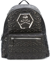 Philipp Plein quilted backpack - men - Leather - One Size