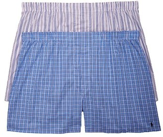Polo Ralph Lauren Classic Big & Tall Cotton Woven Boxers 2-Pack