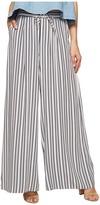 BB Dakota Maximus Shades of Grey Printed Rayon Challis Deep Pleat Pants Women's Casual Pants