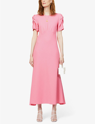 Maggie Marilyn Its Up To You short-sleeved wool midi dress