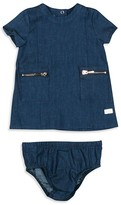 7 For All Mankind Infant Girls' Denim Dress & Bloomer Set - Sizes 0-9 Months