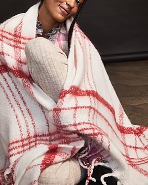 Free People Brushed Plaid Blanket Scarf
