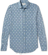 Saint Laurent - Distressed Polka-dot Voile Shirt