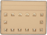 Valentino Beige Rockstud Card Holder