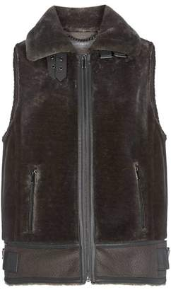 Mint Velvet Grey Faux Fur Gilet