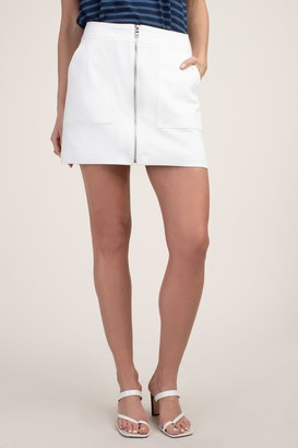 Trina Turk Harvest 2 White Jean Skirt