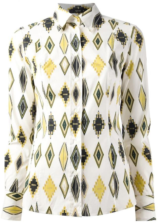 Etro Aztec print shirt