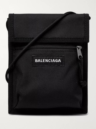 Balenciaga Logo-Appliqued Canvas Messenger Bag